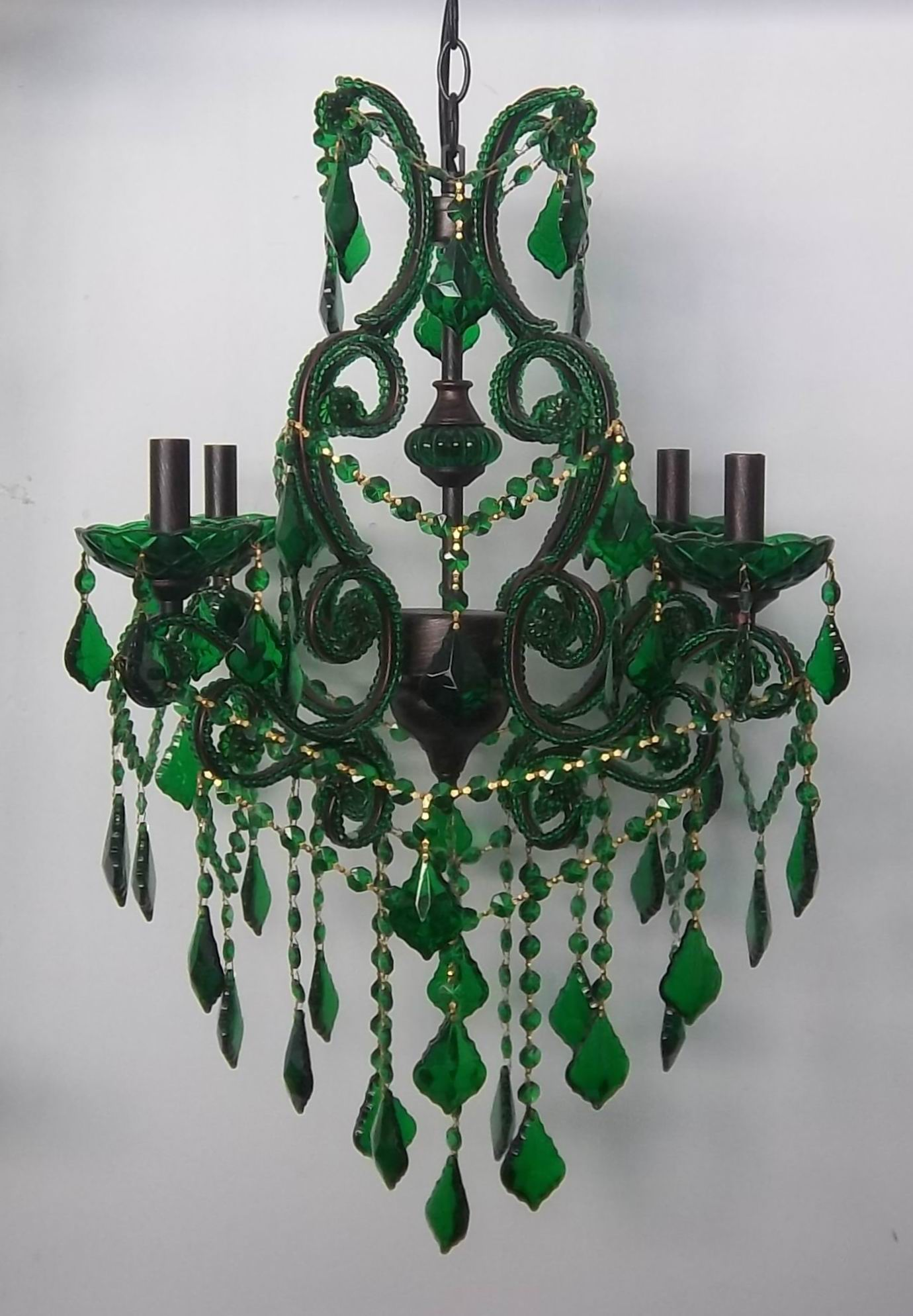 Green crystal chandelier in chandelier pendant lightgreen crystal green crystal chandelier arubaitofo Image collections