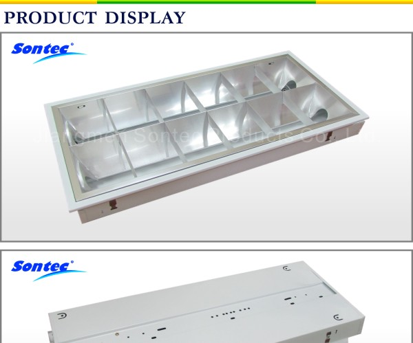 2x18w 600mm 2ft Louver Light Recessed Lighting Fixture