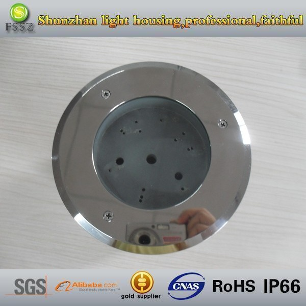 3w led IP66 alu and stainless steel underground lamp housing/fixture