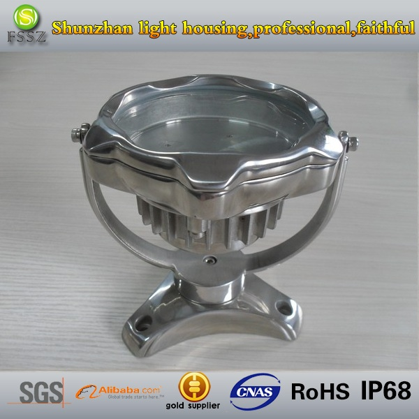 stainless steel 304 IP68 LED underwater and pool light fixture,ROHS