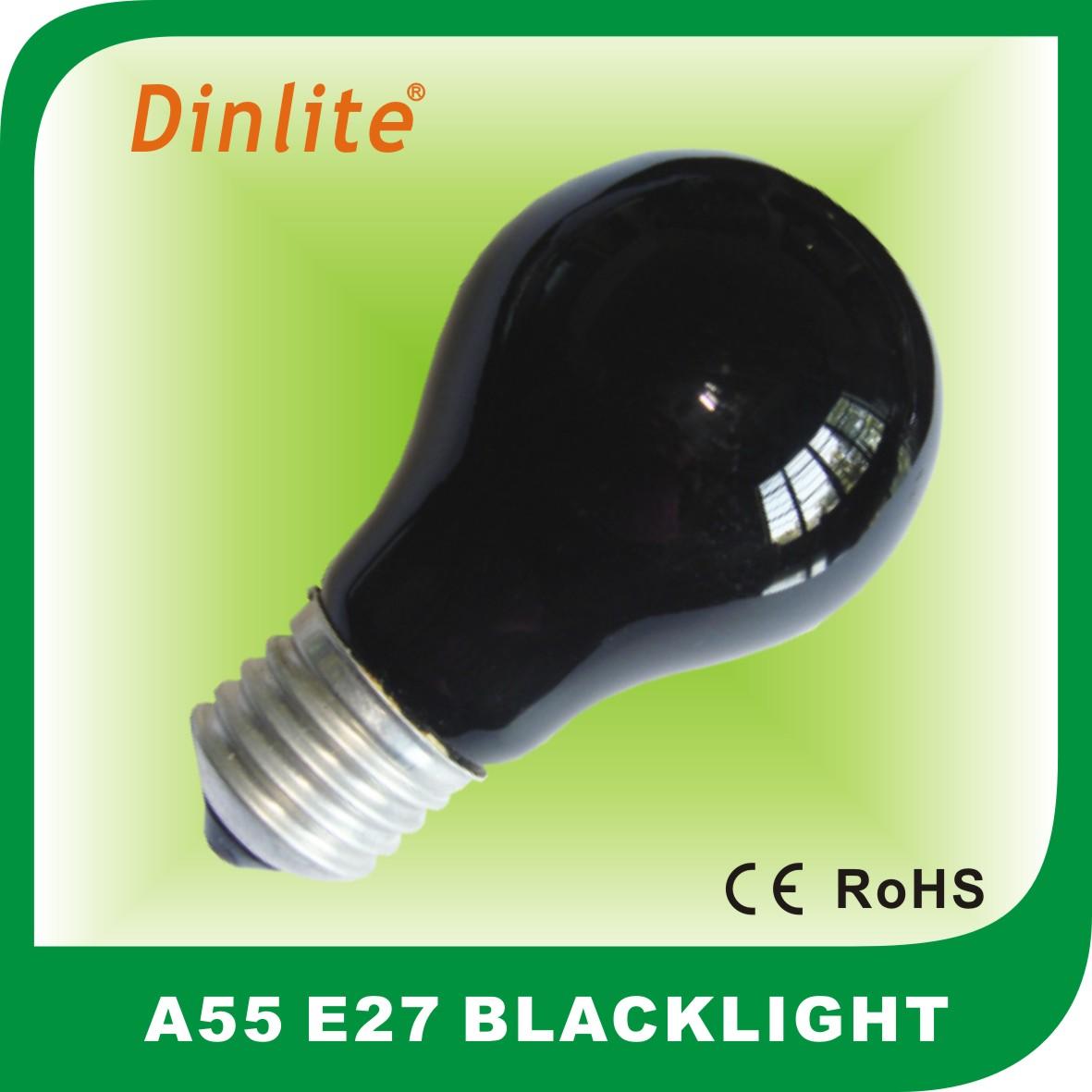A55 Blacklight Incandesent Bulb Decorative Lamp Manufacturers