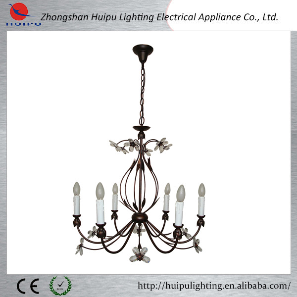 Hot sale flower type high quality elegant candle pendant lamp