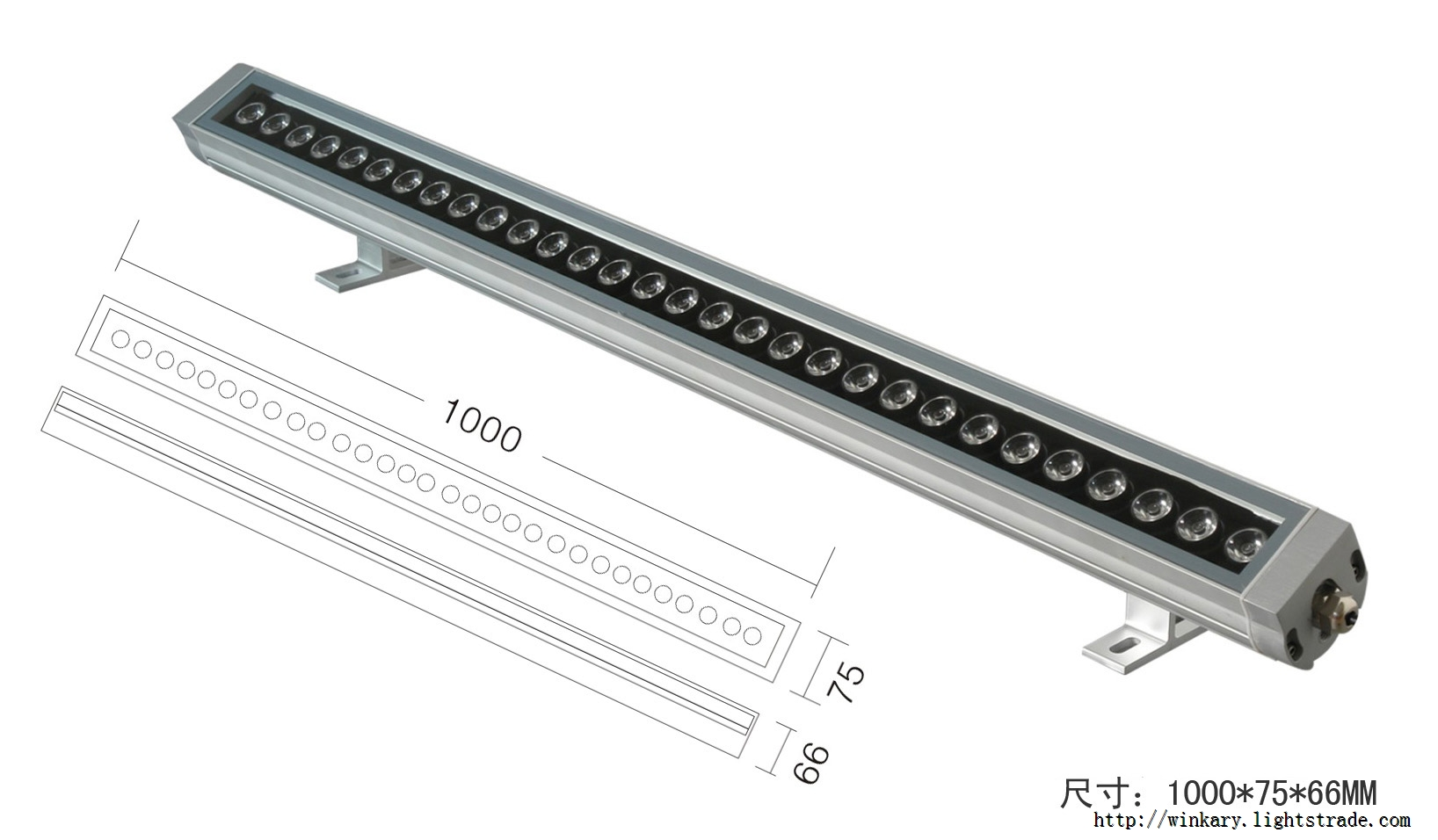 WKY-WWS-03 30W LED Wall Washer Light