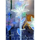 LED Christmas light IP44 outdoor decoration LED 3D motif light 3D flower