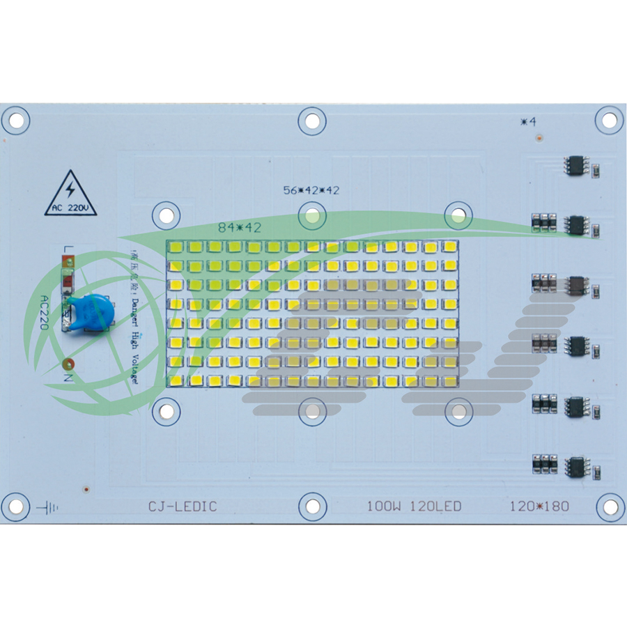 Compact Direct AC line LED module with high PF and low THD performance /100W LED floor lamp