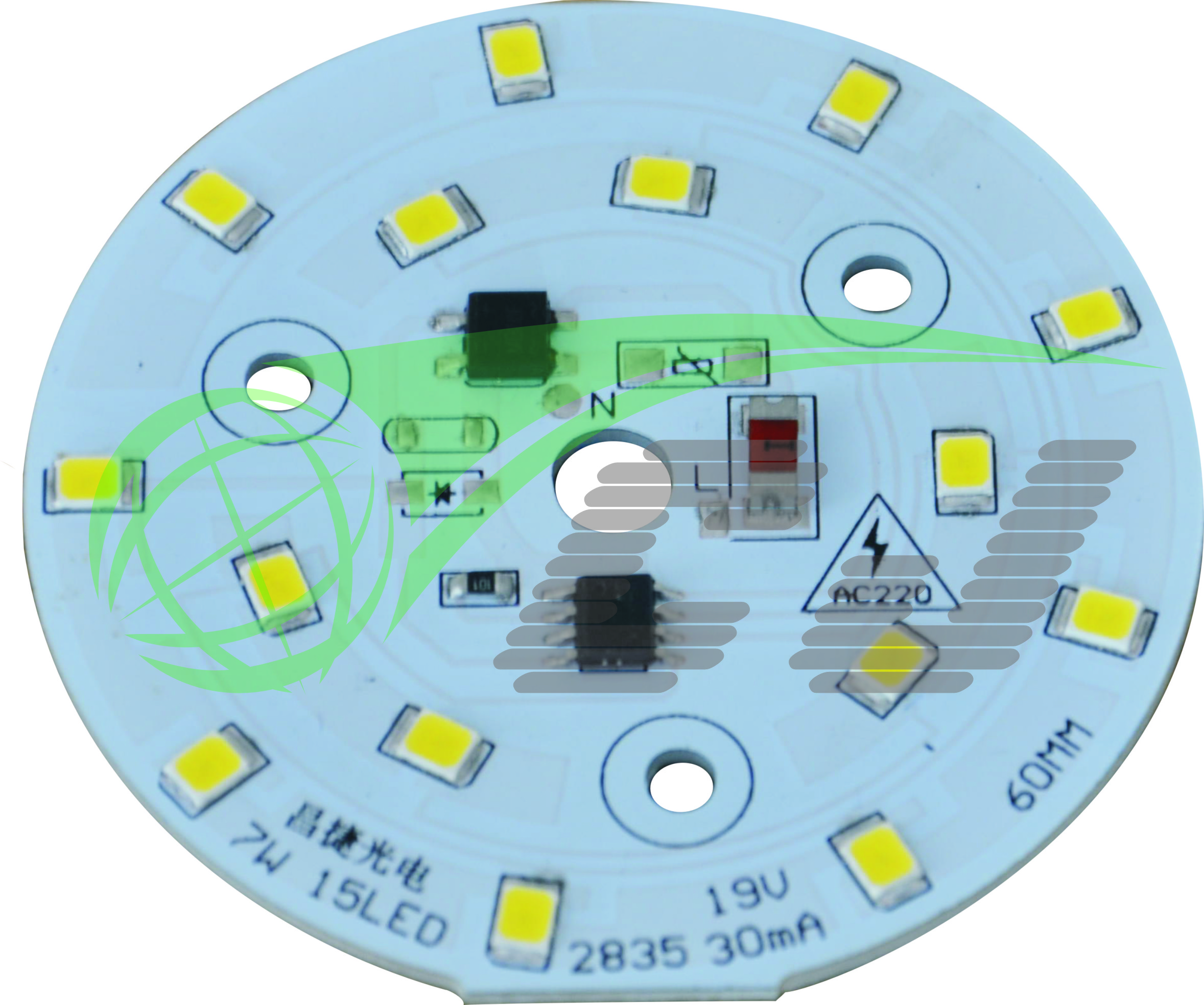 Compact Direct AC line LED module with high PF and low THD performance /7W LED down lamp/bulb lamp