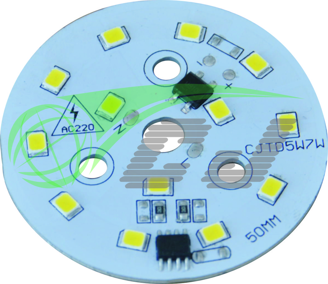 Compact Direct AC line LED module with high PF and low THD performance /7W LED down lamp/1 step