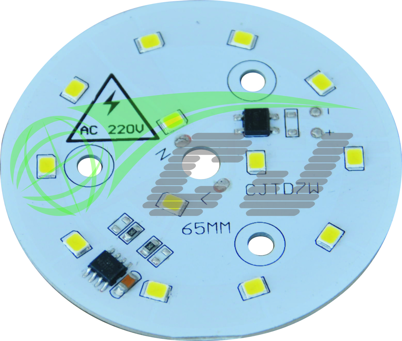 Compact Direct AC line LED module with high PF and low THD performance 7W LED down lamp 1 step