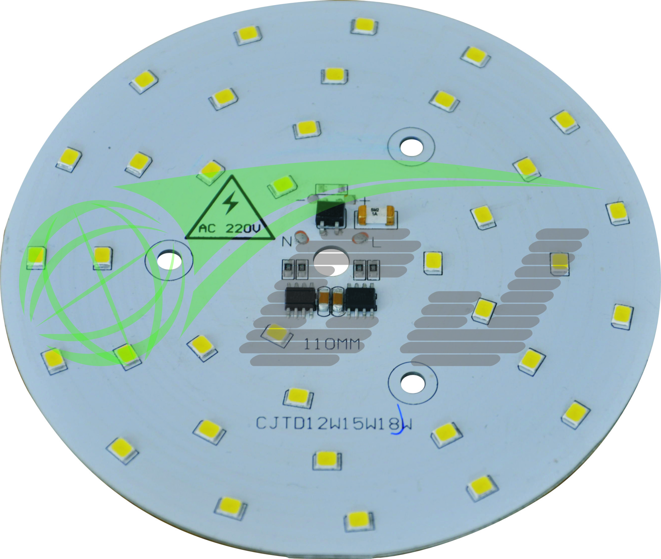 Compact Direct AC line LED module with high PF and low THD performance /18W LED down lamp/1 step
