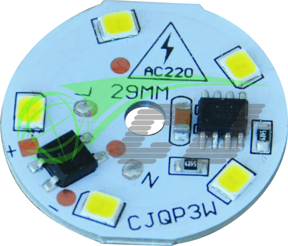 Compact Direct AC line LED module with high PF and low THD performance /3W LED bulb lamp/1 step