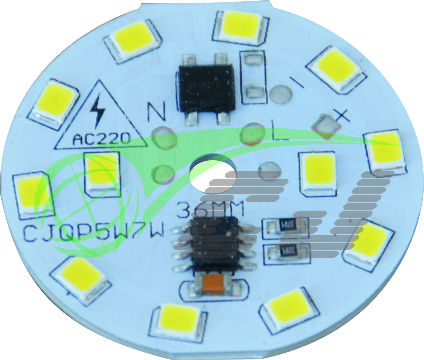 Compact Direct AC line LED module with high PF and low THD performance /5W LED bulb lamp/1 step