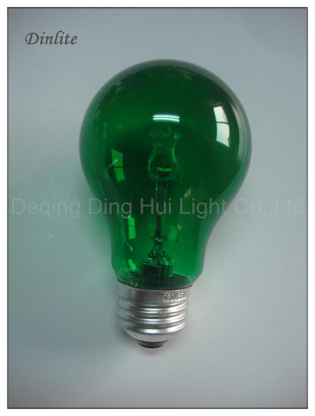 A19 E27 GREEN COLOR HALOGEN - Christmas Lights A19 Colorful Halogen Bulbs Incandescent Bulbs