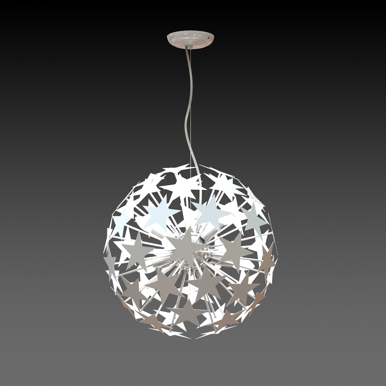 Household Metal Dandelion Pendant Lamp White Round Ball Ceiling Light