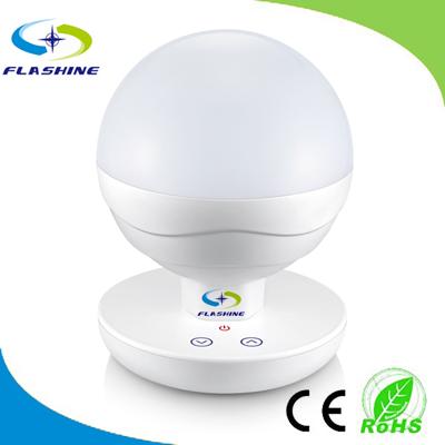 2 Watt Intelligent Portable Battery Powered LED Desk Lamp with Touch Dimmer, White Body