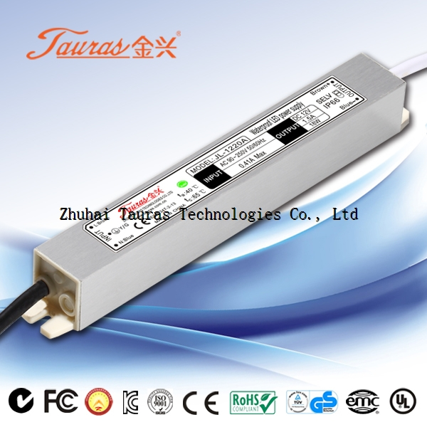 20w Constant voltage UL approval 12v LED Driver JL-1220A tauras