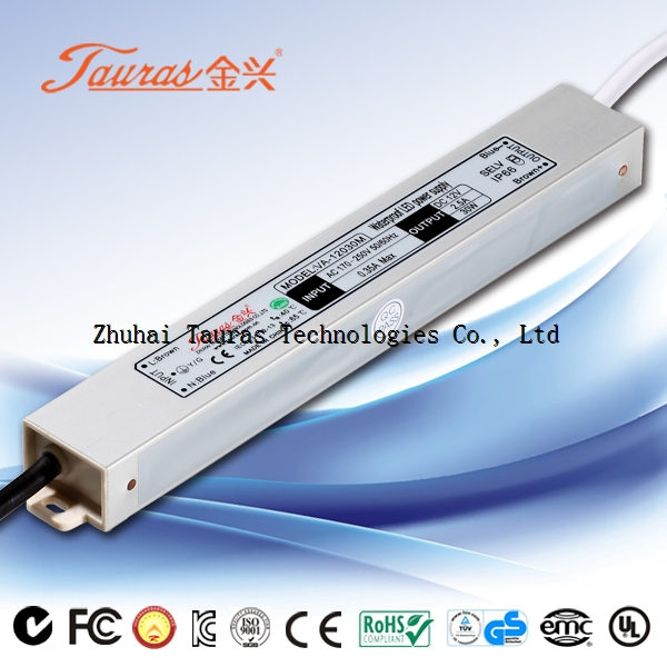 CE ROHS High reliability Constant voltage 12V 30W Waterproof LED Power Supply VA-12030M