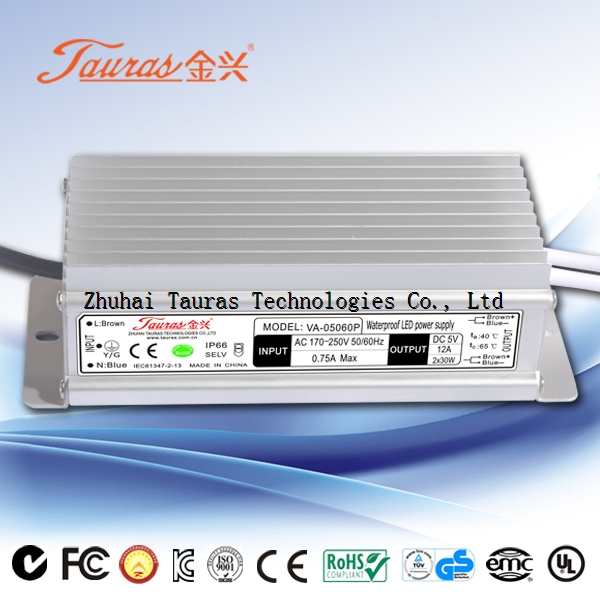 Constant voltage 12Vdc 60W LED Power Supply VA-12060P