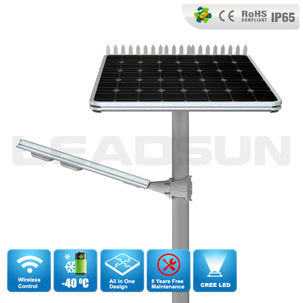 60W Cree Solar Led Street Light Solar Outdoor Lighting for Parking Lot Street Use