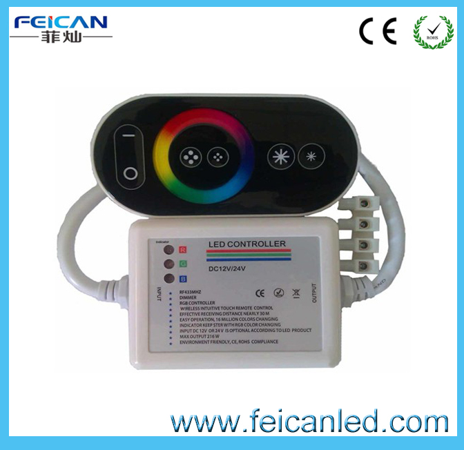 Wireless RF RGB Remote Touch rgb led controller wifi For 5050/3528 RGB strip
