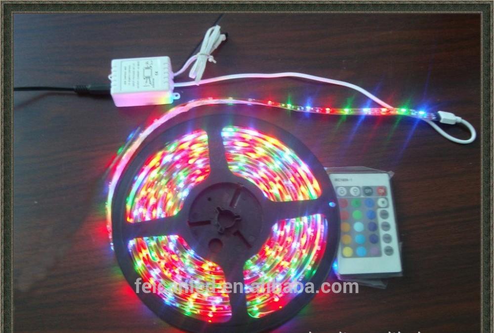 Outdoor 5M 3528 RGB Waterproof Flexible Strip 300 LED Light +24keys IR controller