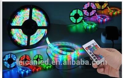 12V 5050 SMD LED RGB FLASH 500CM 5050 rgb led strip+24keys IR CONTROLLER for lexible light strip