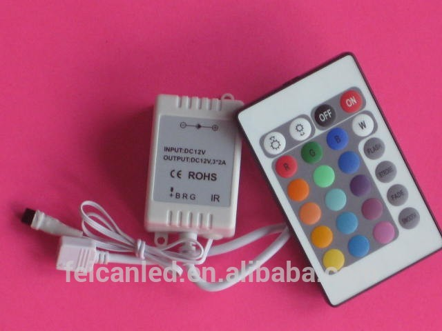 LED 24key IR controller for lexible light strip, wall washer lamp, glass curtain
