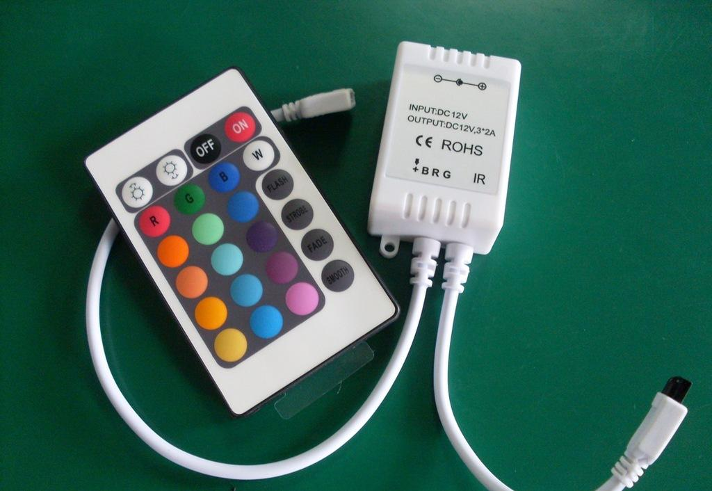 high quality RGB LED 24keys IR controller for lexible light strip, wall washer lamp, glass curtain