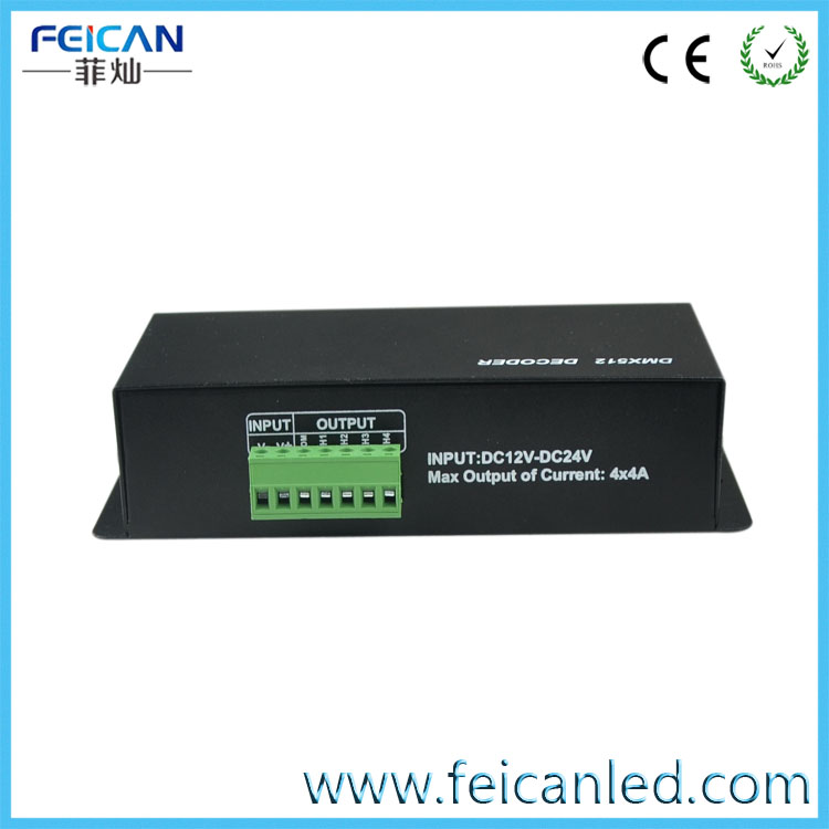 4 channel DMX512 LED Decoder LED Drive