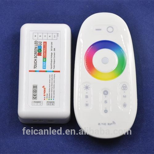 DC12V / 24V Futlight 2.4G RF touch screen led rgbw strip controller for led strip use,ce rohs wirele