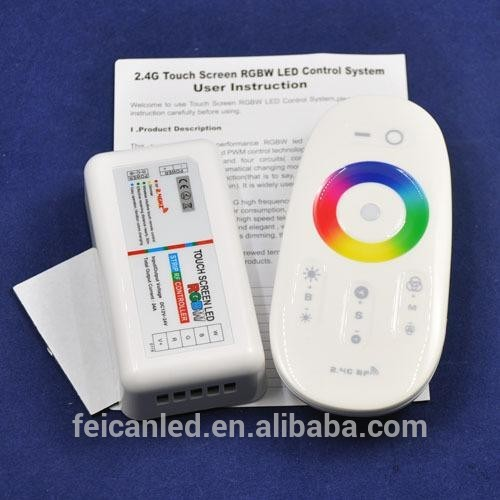 CE&RoHS approved 2.4G rgbw Wireless touching screen led controller for led strip/ led module