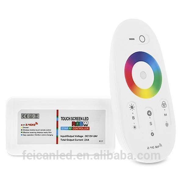 CE&RoHS approved 2.4G Touch screen programmable remote rgbw led light controller