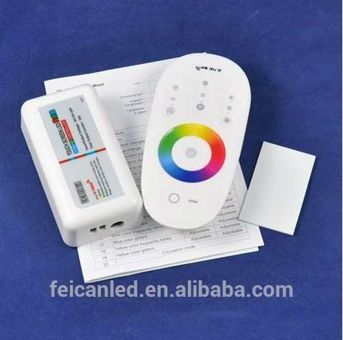 DC12-24V 2.4G Touch Screen RGB led remote controller for rgb led strip or modlues, bulbs
