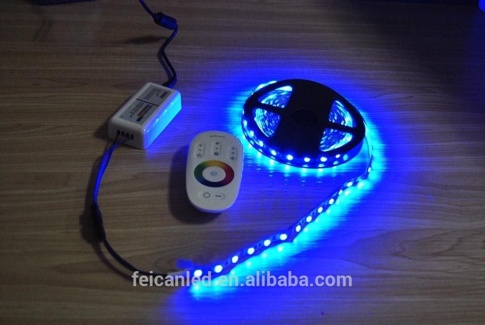 2.4G full touch screen RGB LED Controller with white remote /CE&ROHS