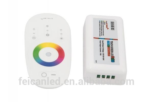 DC12-24V RGB led controller 2.4G touch screen RF remote control for led strip/led module