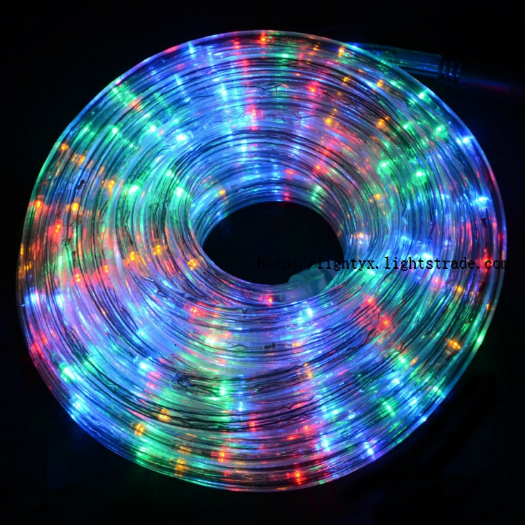 220v multi color round 3 wires led rope light with chasing effects 220v multi color round 3 wires led rope light with chasing effects aloadofball Gallery