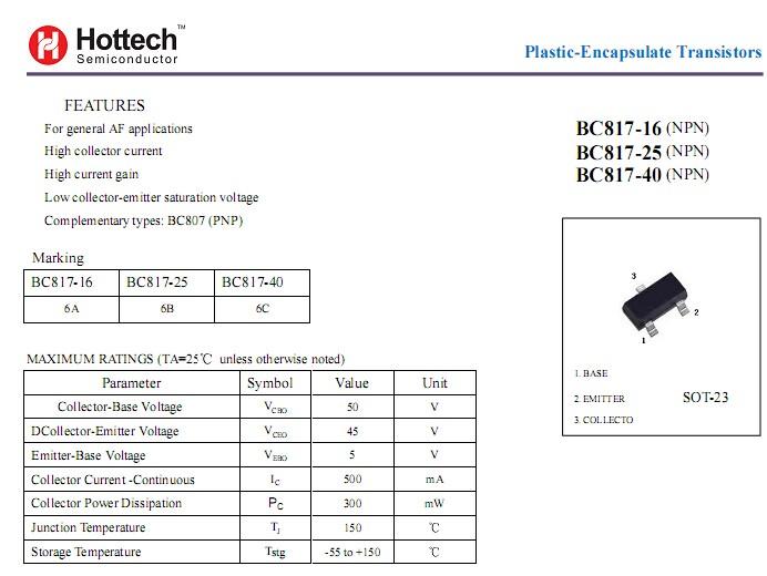 10 x bc817-25 transistors