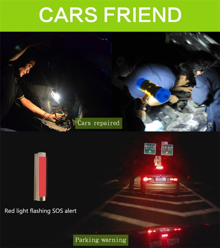 LED car light car emergency absorb metal light with SOS red flash