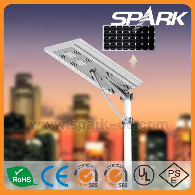 Spark New Integrated LED Solar Street Light 50w