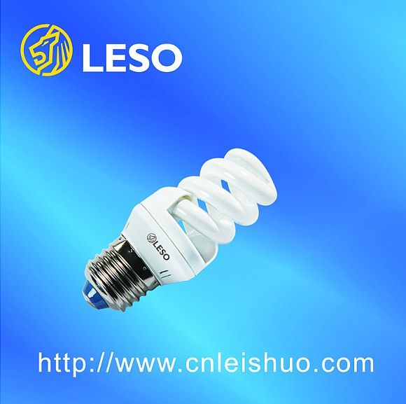 13W 9mm full spiral energy saving lamp 650Lm non-flash PBT Plastic