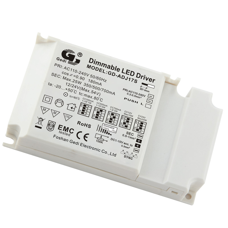 0-10V/Keypad/Touch Dimmable LED Driver GD-ADJ17S