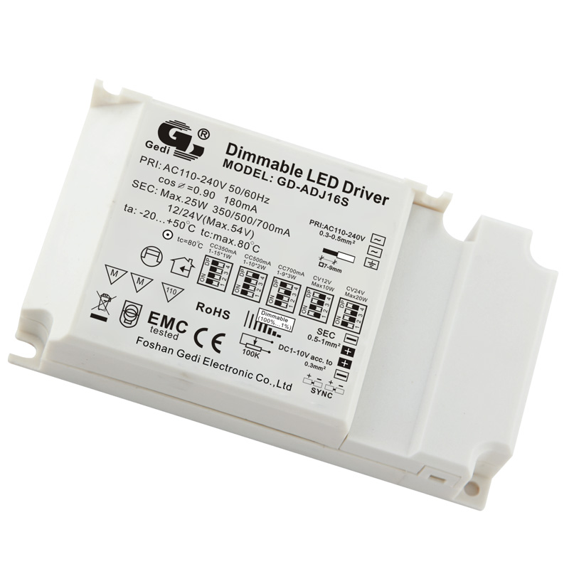 Adjustable light and colour temperature LED Driver GD-MC16