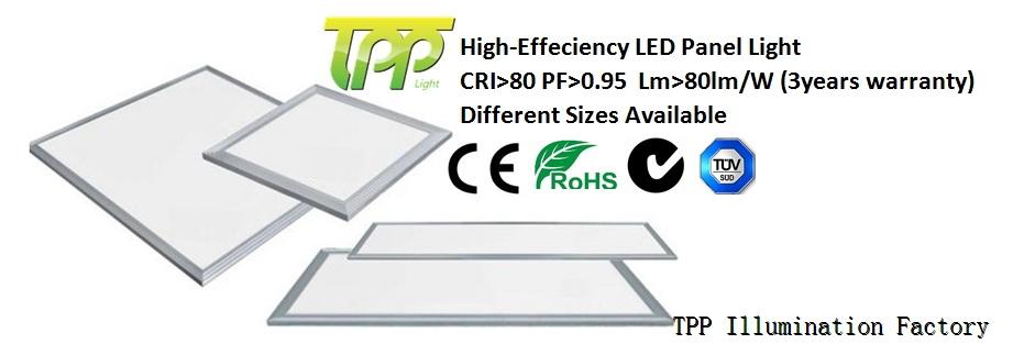 36W led flat panel light 600*600mm