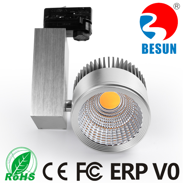 Aluminum 30W COB led track light with Black/White/Silver housing