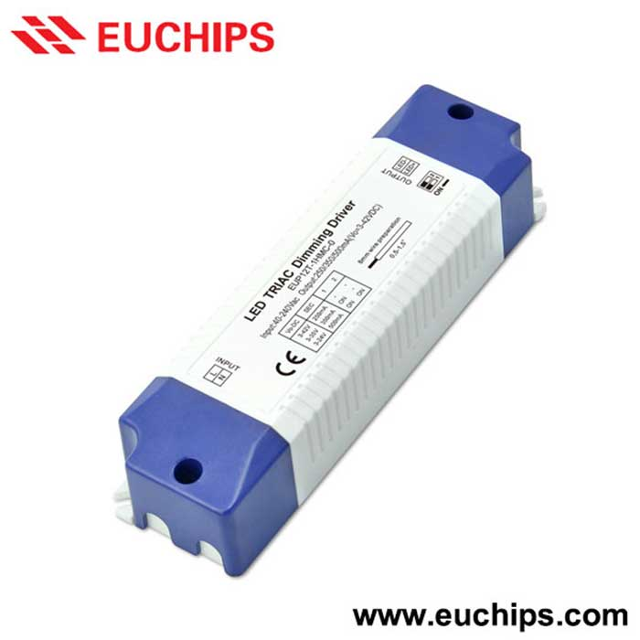 12W 180/240/300mA 1 channel Triac constant current dimmable led driver EUP12T-1HMC-0