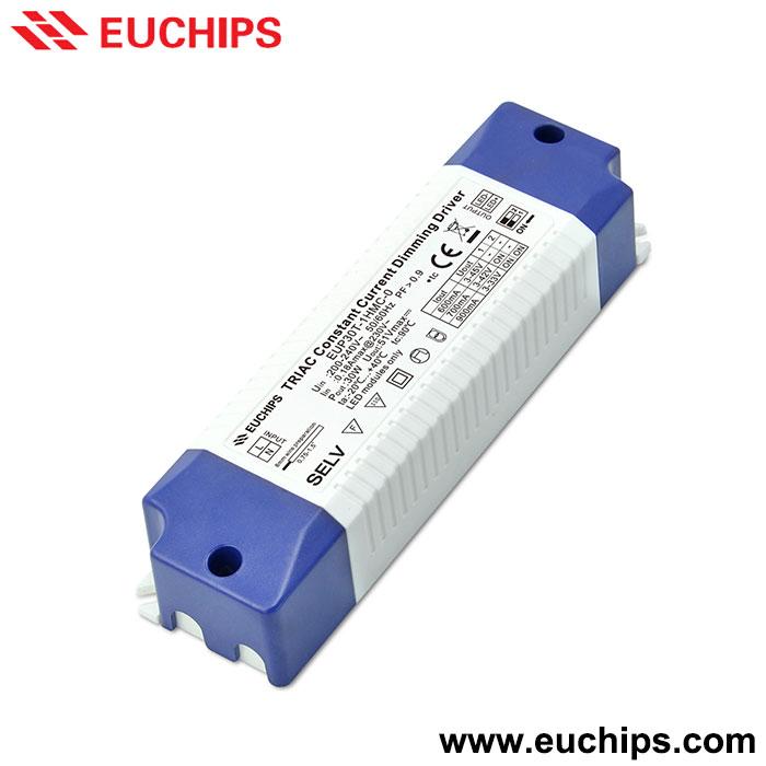30W 600/700/900mA Triac constant current led dimmable driver EUP30T-1HMC-0