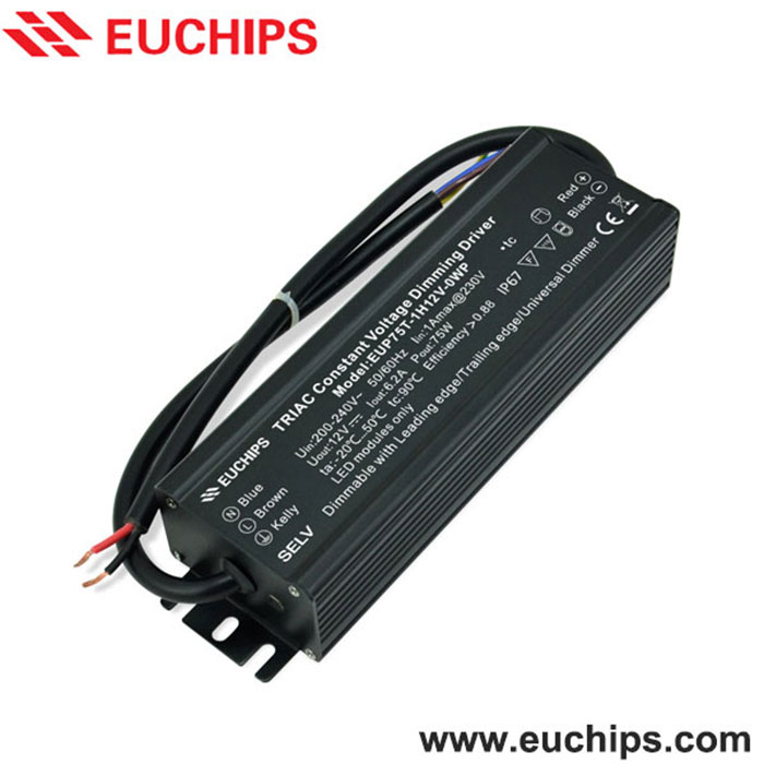 200-240VAC 75W 24VDC waterproof led dimmable driver