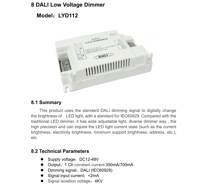 DALI Low Voltage Light Dimmer For Commercial Lighting