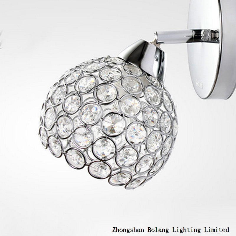 E14 incandesent crystal lampshade wall lamp BL1210
