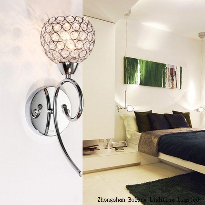 E14 bulb flower lampshade crystal material LED wall light BL1200 JUSHEN