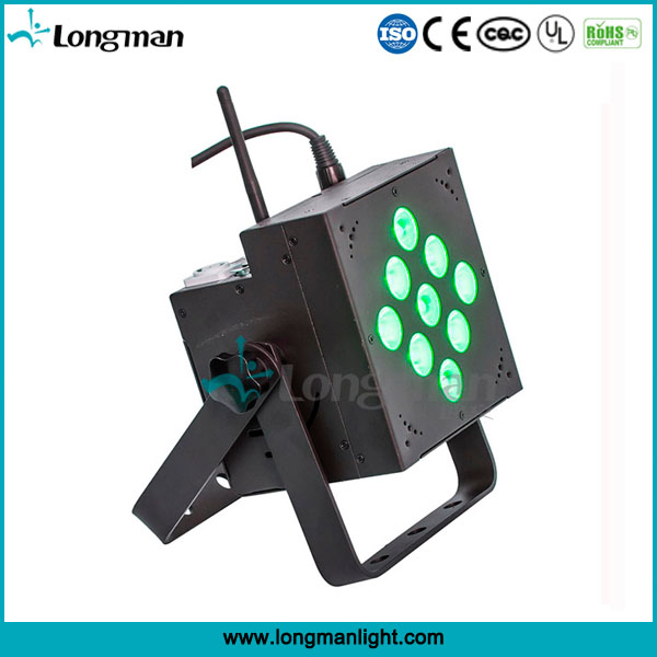 Indoor battery powered wireless 4in1 rgbw led par lighting for stage